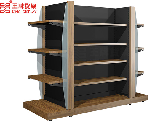 Steel and wood combined with H - type imported food store shelves